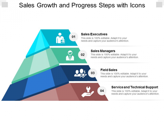 Sales Growth And Progress Steps With Icons Ppt PowerPoint Presentation Inspiration Templates