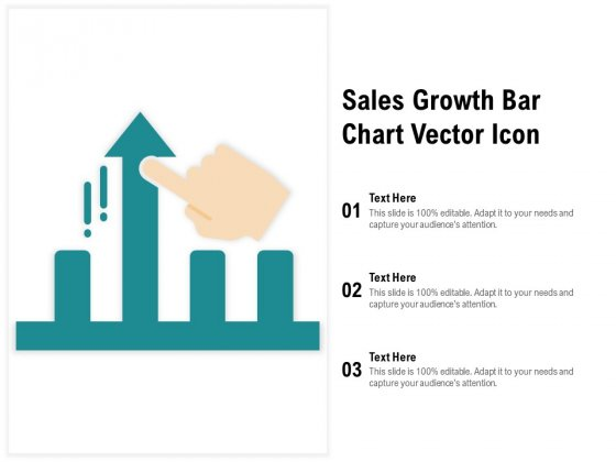 Sales Growth Bar Chart Vector Icon Ppt PowerPoint Presentation Infographics Layout