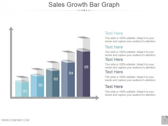 Sales Growth Bar Graph Ppt PowerPoint Presentation Background Image