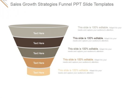Sales Growth Strategies Funnel Ppt PowerPoint Presentation Example 2015