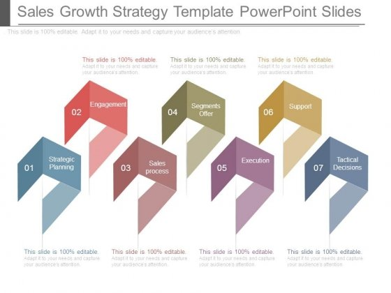 Sales Growth Strategy Template Powerpoint Slides
