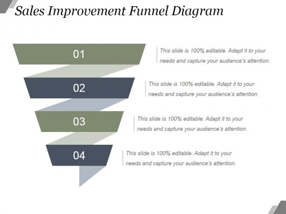 Sales Improvement Funnel Diagram Ppt PowerPoint Presentation Shapes