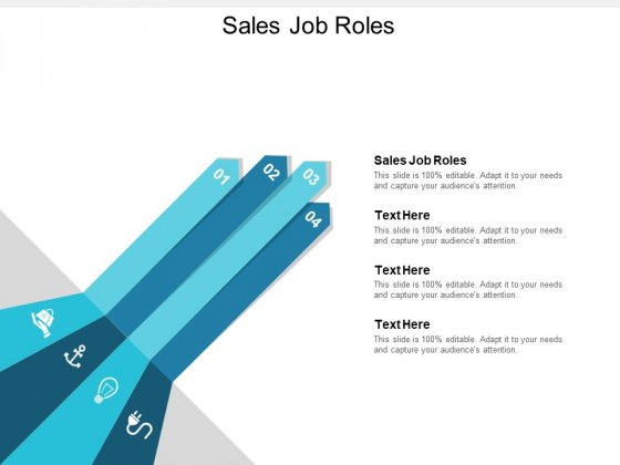 Sales Job Roles Ppt PowerPoint Presentation Inspiration Templates Cpb