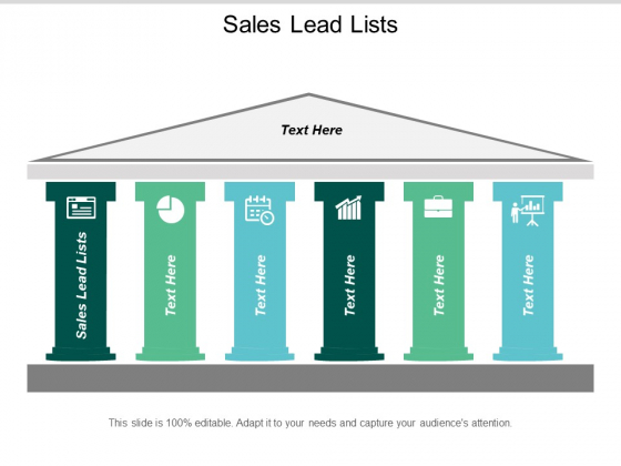 Sales Lead Lists Ppt PowerPoint Presentation Gallery Ideas Cpb