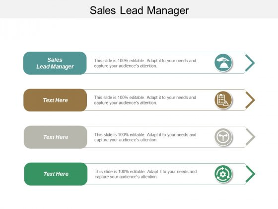 Sales Lead Manager Ppt PowerPoint Presentation Outline Smartart Cpb