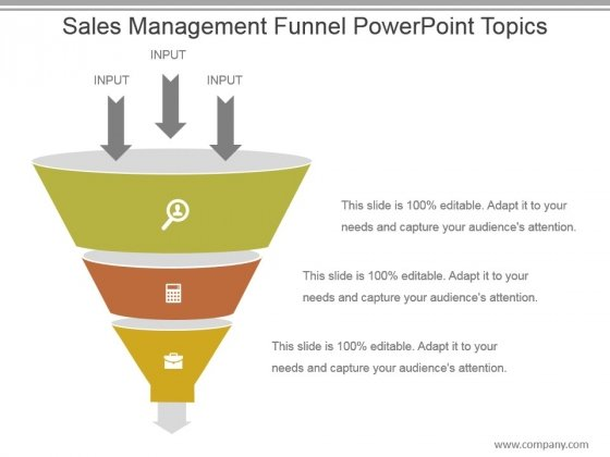 Sales Management Funnel Powerpoint Topics