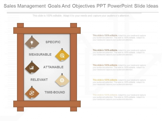 Sales Management Goals And Objectives Ppt Powerpoint Slide Ideas
