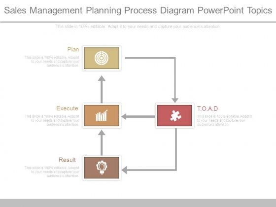 Sales Management Planning Process Diagram Powerpoint Topics
