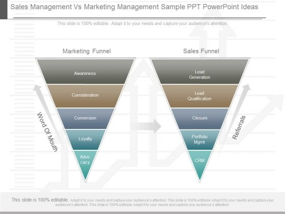 Sales Management Vs Marketing Management Sample Ppt Powerpoint Ideas