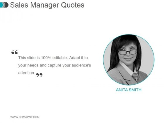 Sales Manager Quotes Ppt PowerPoint Presentation Rules