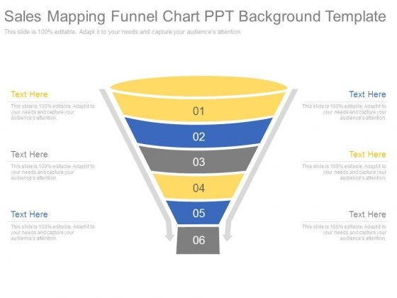 Sales Mapping Funnel Chart Ppt Background Template
