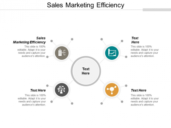 Sales Marketing Efficiency Ppt PowerPoint Presentation Slides Backgrounds Cpb