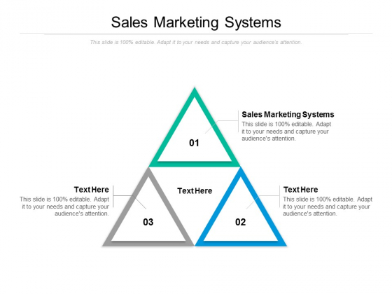 Sales Marketing Systems Ppt PowerPoint Presentation Outline Graphics Pictures Cpb
