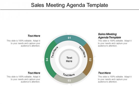 Sales Meeting Agenda Template Ppt PowerPoint Presentation Styles Background Images Cpb