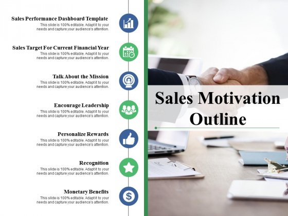 Sales Motivation Outline Ppt PowerPoint Presentation Icon