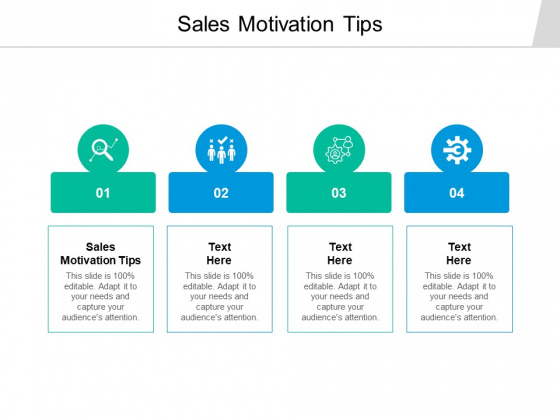 Sales Motivation Tips Ppt PowerPoint Presentation Slides Cpb