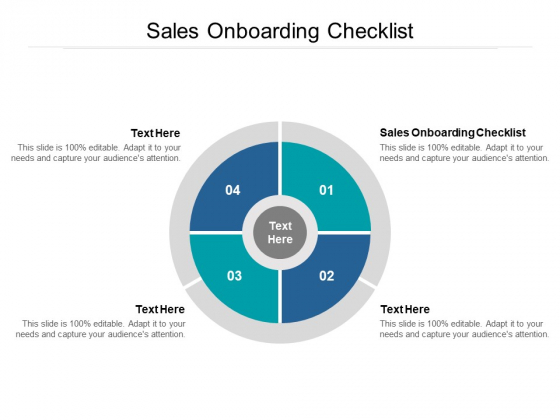 Sales Onboarding Checklist Ppt PowerPoint Presentation Infographics Designs Download Cpb