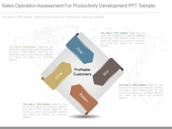 Sales Operation Assessment For Productivity Development Ppt Sample
