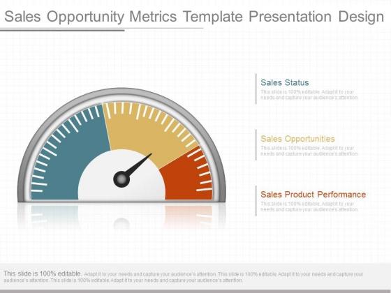 Sales Opportunity Metrics Template Presentation Design