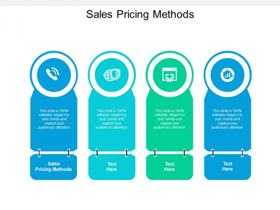 Sales Pricing Methods Ppt PowerPoint Presentation Infographic Template Background Image Cpb