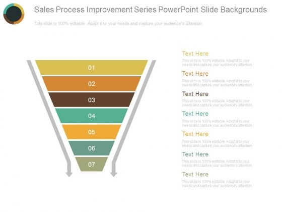 Sales Process Improvement Series Powerpoint Slide Backgrounds