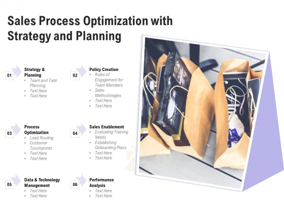 Sales Process Optimization With Strategy And Planning Ppt PowerPoint Presentation File Design Templates PDF