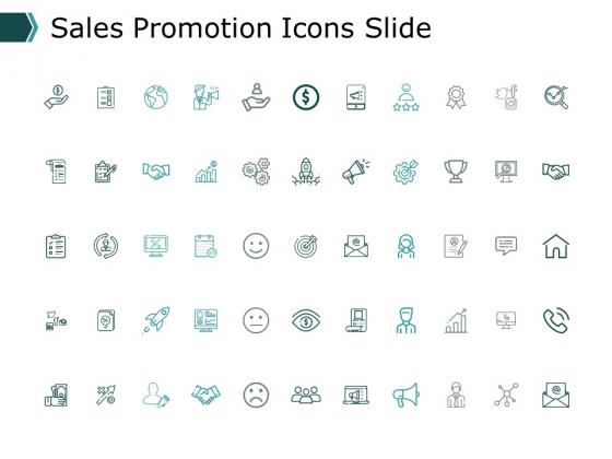 Sales Promotion Icons Slide Ppt PowerPoint Presentation Slides Picture