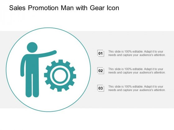 Sales Promotion Man With Gear Icon Ppt PowerPoint Presentation File Mockup