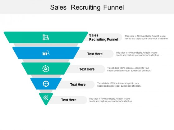 Sales Recruiting Funnel Ppt PowerPoint Presentation Portfolio Designs Download Cpb