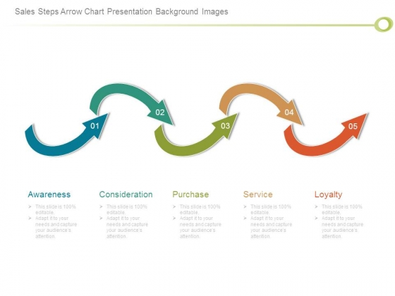 Sales Steps Arrow Chart Presentation Background Images