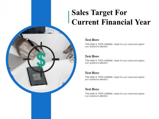 Sales Target For Current Financial Year Ppt PowerPoint Presentation File Master Slide
