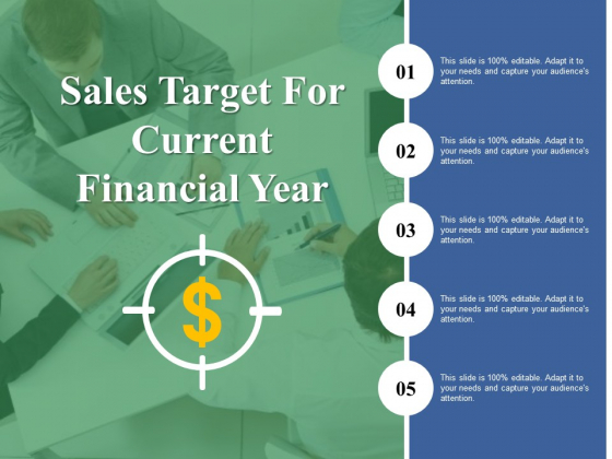Sales Target For Current Financial Year Ppt PowerPoint Presentation Pictures Graphics Download