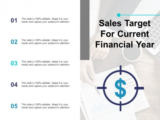 Sales Target For Current Financial Year Ppt PowerPoint Presentation Show Master Slide