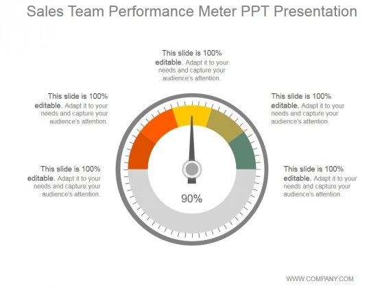Sales Team Performance Meter Ppt PowerPoint Presentation Diagrams
