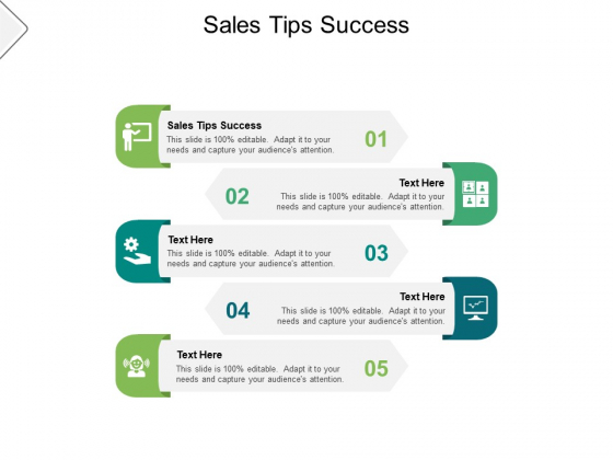 Sales Tips Success Ppt PowerPoint Presentation Summary Background Cpb