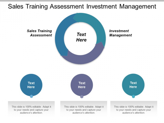 Sales Training Assessment Investment Management Ppt PowerPoint Presentation Pictures Graphics Template