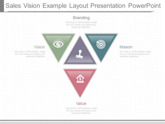 Sales Vision Example Layout Presentation Powerpoint