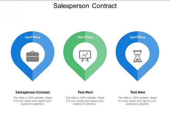 Salesperson Contract Ppt PowerPoint Presentation Outline Model Cpb