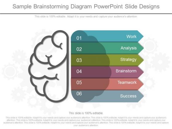Sample Brainstorming Diagram Powerpoint Slide Designs