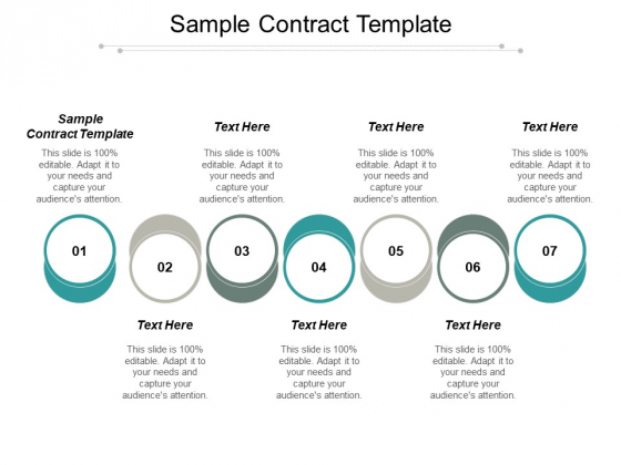 Sample Contract Template Ppt PowerPoint Presentation File Picture Cpb