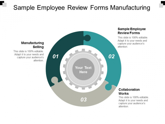 sample employee review forms manufacturing selling collaboration works ppt powerpoint presentation ideas professional
