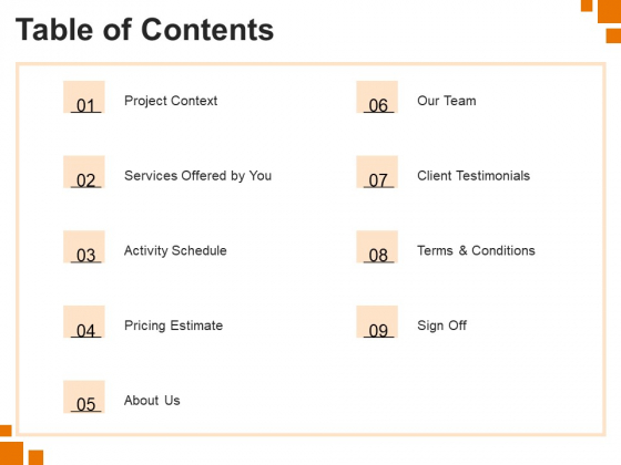 Sample Of Business Plan Table Of Contents Ppt PowerPoint Presentation Visual Aids Gallery PDF