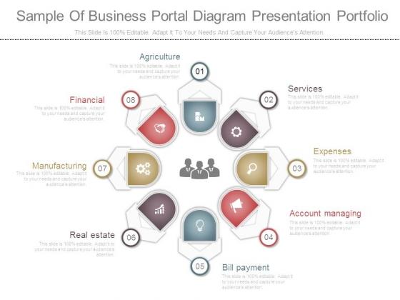 Sample Of Business Portal Diagram Presentation Portfolio