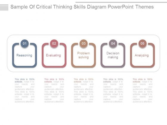sample of critical thinking skills diagram powerpoint themes