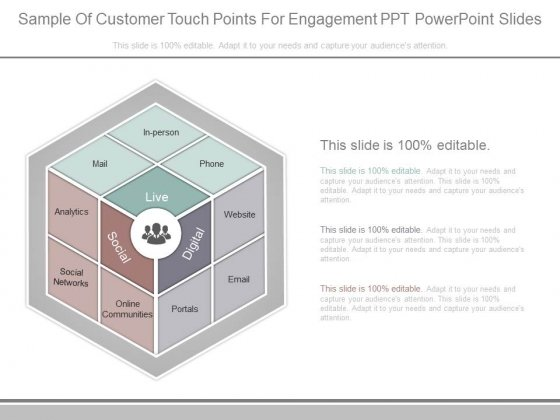 Sample Of Customer Touch Points For Engagement Ppt Powerpoint Slides