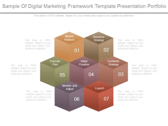 Sample Of Digital Marketing Framework Template Presentation - Digital portfolio template