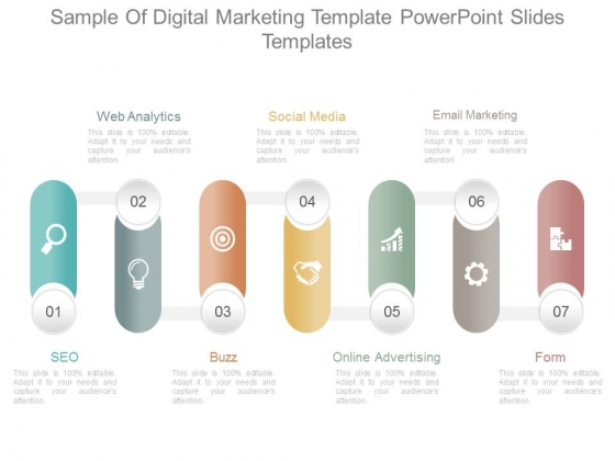Sample Of Digital Marketing Template Powerpoint Slides Templates