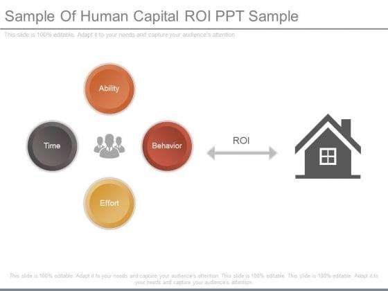 Sample Of Human Capital Roi Ppt Sample