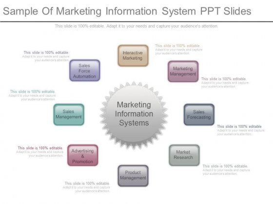 Sample Of Marketing Information System Ppt Slides