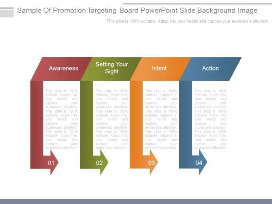 Sample Of Promotion Targeting Board Powerpoint Slide Background Image